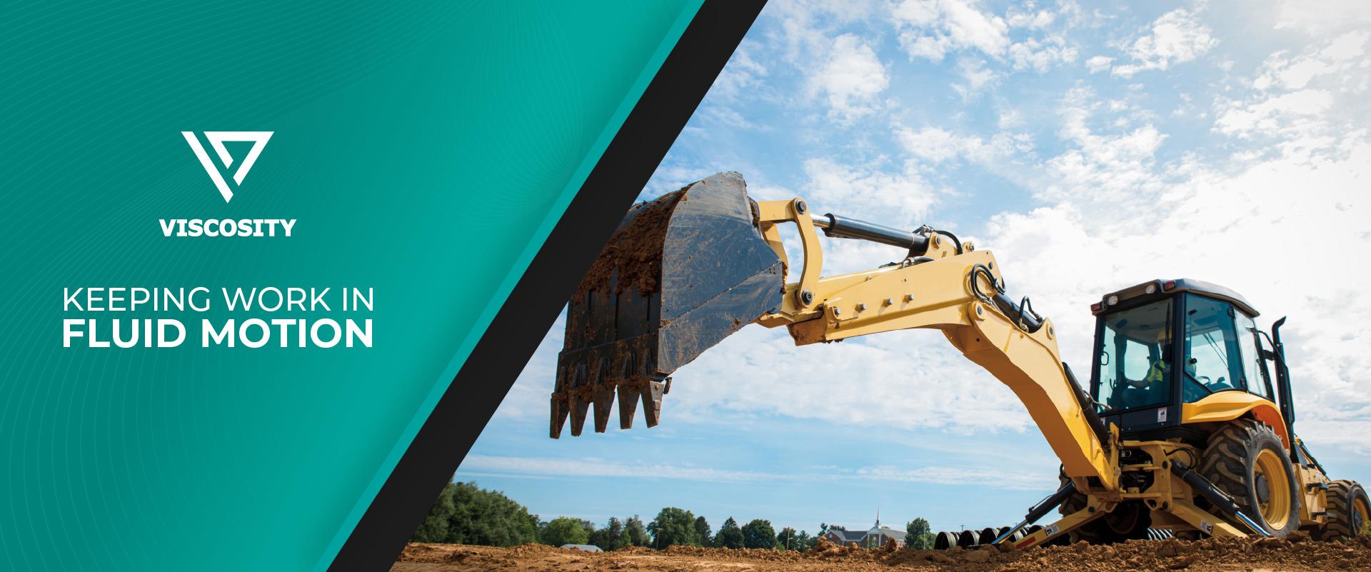Keep work in fluid motion Excavator photo banner