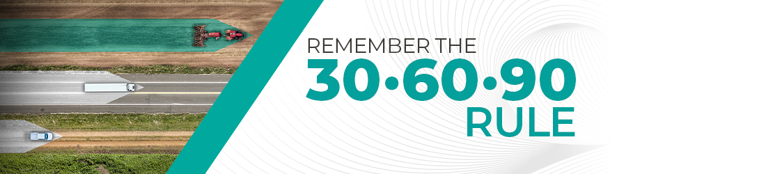 Remember the 30. 60. 90 Rule Banner